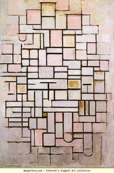 Piet Mondrian. Composition No.6. / Compositie nr.6.
