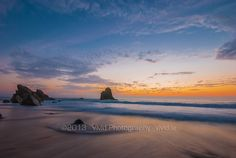 Praia da Adraga Sunset by Rodrigo Cunha on Sintra Portugal, Celestial, Sunset, Beach, Water, Photography, Outdoor, Cunha, The Beach