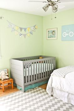 Baby room. Love the chevron! Baby kerf blog.