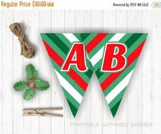 On Sale 80% OFF Alphabet Banner Letters A-Z Green by BannerSays