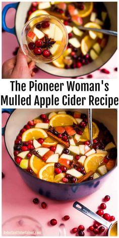 Spiked Apple Cider, Mulled Apple Cider, Crockpot Apple Cider, Mulled Cider Recipe, Apple Cidar, Apple Cider Sangria, Mulled Wine, The Pioneer Woman, Pioneer Women