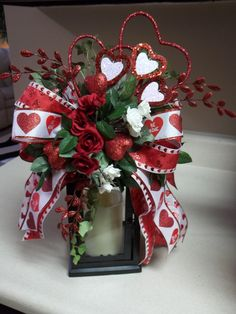 HEARTS & ROSES  Decorative Valentine's Day by DecorClassicFlorals, $29.95