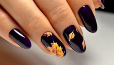 Easy Nail Art Designs for Women 2018 Popular Nail Designs, Simple Nail Art Designs, Fall Nail Designs, Easy Nail Art, Popular Nail Art, Fall Gel Nails, Fall Acrylic Nails, Autumn Nails, My Nails
