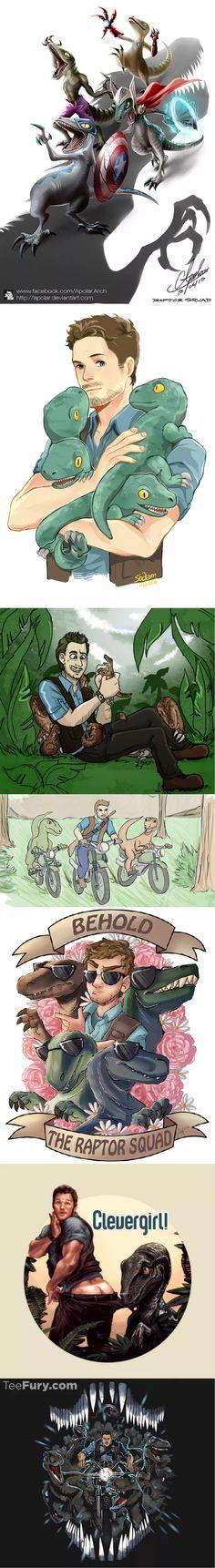 Owen Grady & the Raptors #JurassicWorld #ChrisPratt