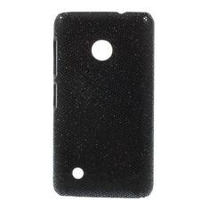 Mesh - Nokia Lumia 530 Hoesje - Back Case Hard Glitter Zwart | Shop4Hoesjes