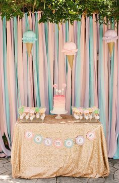 Yasmeen's Ice Cream Themed 1st Birthday Party   The Little Umbrella