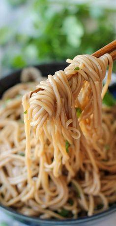 sesame soba noodles....