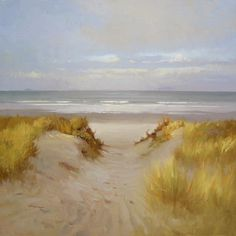 "Dune Light by Richard Robinson Oil ~ 30"" x 30"""