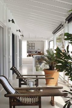 Again roof overhang from master to patio.. doesn't need to be this deep. Colonial Style /Martine Haddouche/