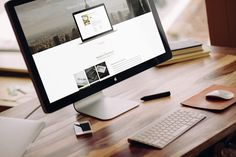 Use this high quality mock-up of an Apple iMac to showcase your app and web design projects in a elegant and...