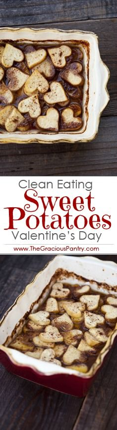 Clean Eating Valentine's Day Maple Baked Sweet Potatoes