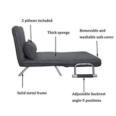 Generic NV_1008004634DWXUS28 846341 justable GreyChair Sue Couch Chair Sofa Bed Convertible Suede Pillow Love seat Lounge Adjustable Grey Sofa Bed Conv *** You can find more details by visiting the image link. (This is an affiliate link) #LivingRoomFurnitureSets