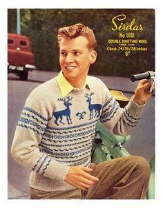 9655aa4a79df7 Retro Christmas jumper Jumper Patterns, Sweater Knitting Patterns, Knitting  Yarn, Knit Patterns,