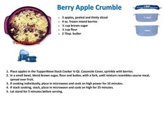 Berry Apple Crumble