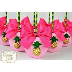 🌺 Chocolate covered apples for Eden's Luau themed birthday!! 🍍💗_bakedwithlove_