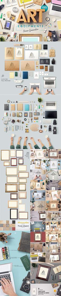The Gorgeous, Artistic Design Bundle on Behance, mock ups