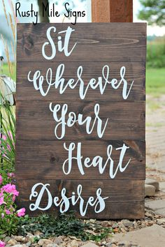 Wedding Seating Plan Sign Wedding Seating Sign Customizable wedding seating Wedding Seating Plan Sign, Wedding Seating Sign, Customizable Wedding Sign, Sit wherever your heart desires, Rustic Wedding Sign Wedding Seating Signs, Rustic Wedding Seating, Wedding Date Sign, Rustic Wedding Signs, Wedding Shit, Wedding Bells, Wedding Scripture, Christmas Wedding, Fall Wedding