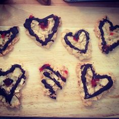 Chocolate and Almond Florentines especially for valentines by Mama Antonini