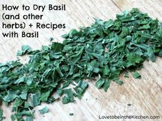 How to Dry Basil (and other herbs) + Recipes with Basil