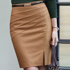 Cheap skirt sale, Buy Quality skirt latin directly from China skirt children Suppliers: New Style Black Camel Color Solid Bust Skirt Women's Career Slim Hip Middle Waist Big SizeXXL Pencil Skirts Skirt Outfits, Dress Skirt, Business Dress, Cute Skirts, Work Attire, Fashion Outfits, Womens Fashion, Fashion Skirts, How To Wear