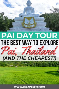 Are you planning a trip to Pai in North Thailand? This beautiful spot is full of green space, natural beauty and is a great place to really relax. One of the best things to do in Pai is take a day tour to see all the sites. Heres my review of the day tour and how it can actually save you money! #pai #norththailand #thailand #paithailand thingstodoinpai #paidaytour #whitebuddha #paicanyon #paiwalkingstreet #lodcave #paiwaterfall