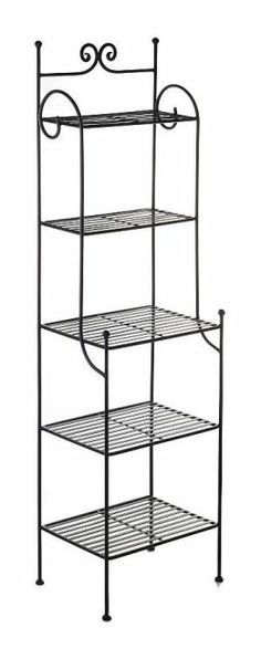 Wrought iron bookcase Artiro narrow