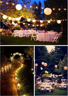 outdoor party decor by sylvianes Outdoor Party Pinterest