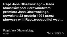 """""""Rząd Jana Olszewskiego"""" på @Wikipedia:"""