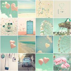 Mint Photography, 4x4 Prints, Nursery art, Home Decor, Carnival, Ferris Wheel, Balloons, Heart, Beach, City, Pink, Pastel, Nursery Print