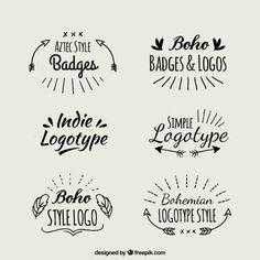 Handwritten boho logotypes