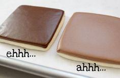 How to make perfect chocolate royal icing from @SweetSugarBelle {Callye Alvarado}
