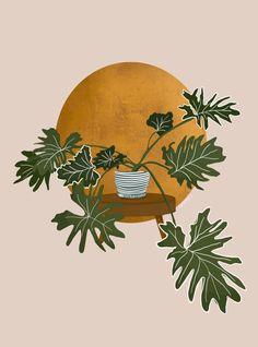 Graphic Design Illustration, Illustration Art, Plant Painting, Abstract Line Art, Minimalist Art, Aesthetic Art, Cute Wallpapers, Art Inspo, Amazing Art