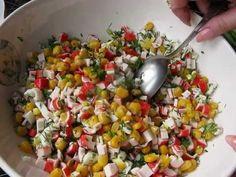 Салат с крабовыми палочками и свежим огурцом. - YouTube Food And Drink, Vegetables, Puddings, Youtube, Custard Pudding, Vegetable Recipes, Pudding, Avocado Pudding, Youtube Movies