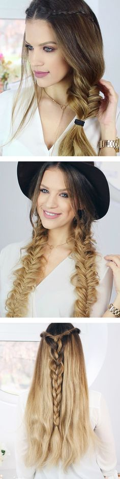3 Easy Boho Hairstyles, 3 Easy Boho Hairstyles, Soft, shiny, silky and well-groomed hair is our dream. Easy Formal Hairstyles, Bob Hairstyles 2018, Stacked Bob Hairstyles, Easy Updo Hairstyles, Easy Hairstyles For Medium Hair, Short Hair Updo, Braided Hairstyles Tutorials, Short Hairstyles For Women, Headband Hairstyles