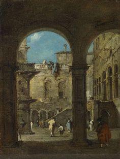 Francesco Guardi: 'An Architectural Caprice'