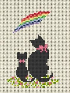 Frozen Cross Stitch, Tiny Cross Stitch, Cat Cross Stitches, Cross Stitch For Kids, Cross Stitch Animals, Cross Stitch Charts, Cross Stitch Designs, Cross Stitching, Cross Stitch Embroidery