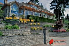 Drain Tile, Raised Patio, Stair Treads, Garden Beds, Horticulture, Amazing Gardens, Landscape Design, Mansions, House Styles