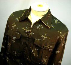 Vintage 1950's Atomic Gabardine Jacket  by rockinrubysvintage, $395.00