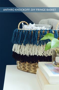 5107 best diy decor and furniture projects images on pinterest in anthro knockoff easy diy tassel fringe basket solutioingenieria Choice Image