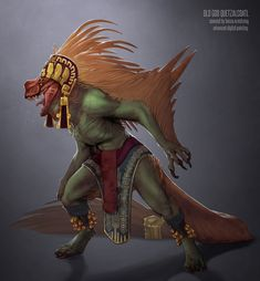 """"""" Missing Link / Living Fossil Quetzalcoatl Redesign for Advanced Digital Painting, taught by Carlo Arellano """""""