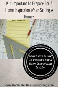 Is It Important To Prepare For A Home Inspection When Selling A Home - http://www.rochesterrealestateblog.com/prepare-for-a-home-inspection-selling-home/ via @KyleHiscockRE
