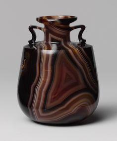 Roman banded agate amphoriskos (perfume bottle), late 1st century BC–early 1st century AD.