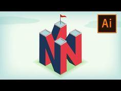 4D Letter Logo/Illustration in Adobe Illustrator | Illustrator Tutorial - YouTube