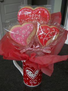 valentines cookie bouquet | Valentine's Cookies and Bouquets — Cookies!