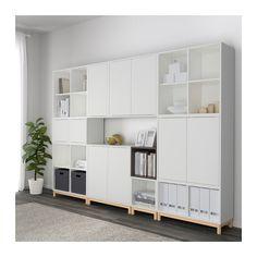 EKET Combinaison rangement avec pieds - blanc/gris foncé - IKEA