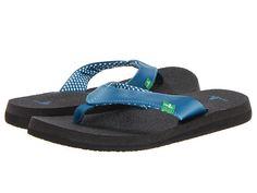 Sanuk Yoga Mat Flip Flop synthetic marine blue, brown, ebony, navy, pink, watermelon, white, gunmetal sz7 32.00 3/16