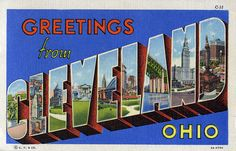Greetings from Cleveland, Ohio - Large Letter Postcard | Flickr - Photo Sharing!