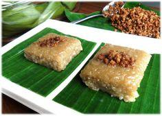 sticky rice cake (biko or sinukmani) my favorite dessert in the philippines