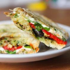 Eggplant Mozzarella Panini #vegetarian #sandwich #lunch #healthysummer #recipe #nutrition #healthy #panini