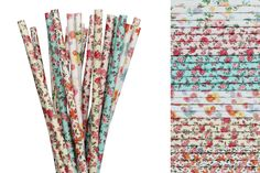 Flower Paper Straw Mix-Flower Fairy Party Straws-Spring Wedding Decor-Garden Tea Party Straws-Flower Power Party-Floral Cake Pop Sticks by CreativeJuiceCafe on Etsy https://www.etsy.com/listing/258366936/flower-paper-straw-mix-flower-fairy